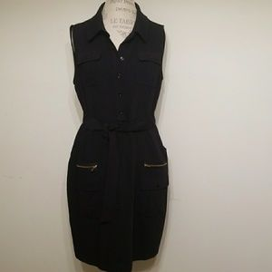 Calvin Klein black sleeveless dress